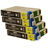 4 Black CiberDirect Compatible Ink Cartridges for use with Epson Stylus Photo P50 Printers.