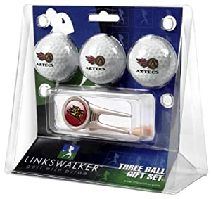 San Diego State Aztecs 3 Golf Ball Gift Pack with Cap Tool by LinksWalker