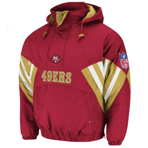 NFL Mitchell & Ness 6003 Vintage Nylon Flashback Jacket San Francisco 49ers 4XL at Amazon.com
