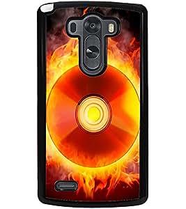ColourCraft Flaming CD Design Back Case Cover for LG G3