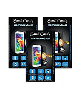 small candy 2.5D Curve Edge HD Ultra Clear Tempered Glass For Sony Xperia C(Pack of Three)