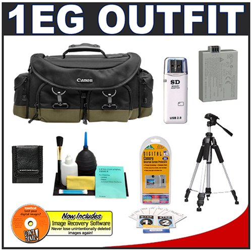 51ngFxOZFcL Canon 200EG Deluxe Digital SLR Camera Backpack Case + Tripod + LP E5 Battery + Accessory Kit for Canon EOS Rebel XS, XSi, T1i