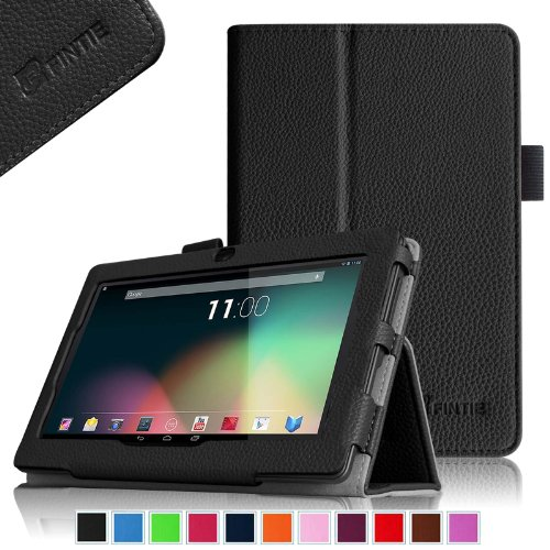 "Fintie Premium PU Leather Case Cover for 7 Inch Android Tablet inclu. Dragon Touch Y88X Plus / Y88X / Y88 / Q88 A13 7 Inch, NeuTab N7S Pro 7, NeuTab N7 Pro 7, Alldaymall A88X / A88S 7 Inch, Chromo Inc 7 Tablet, IRULU eXpro Mini 7 inch, iRULU X1S 7, KingPad K70 / K77 7, ProntoTec Axius Series Q9 / Q9S 7 Inch, Tagital T7X 7, Zibo 7"" Allwinner A33 Tablet, DanCoTek 7"" Quad Core A33 Google Android Tablet PC (PLEASE Check the Complete Compatible Tablet List under Product Description), Black"