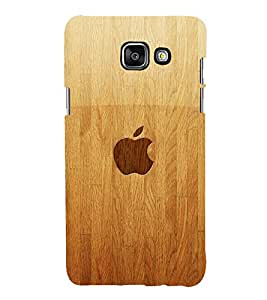 printtech Apple Wooden Back Case Cover for Samsung Galaxy A5 (2016)