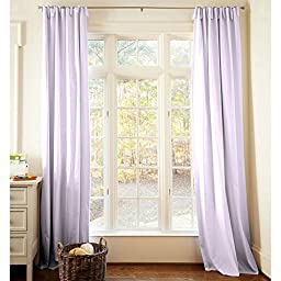 Carousel Designs Solid Lilac Drape Panel 96-Inch Length Standard Lining 42-Inch Width