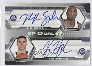 Kris Humphries, Kirk Snyder Utah Jazz (Basketball Card) 2004-05 SP Authentic SP Dual... by SP Authentic