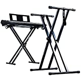 Duronic Black KS2B Height Adjustable High Quality Twin X Frame Keyboard Stand With A Quick Pull Release Mechanism and [[ ORIGINAL ]] Screw N Strap to secure keyboard to the stand + 2 Years FREE Warrantyby Duronic