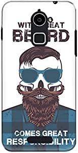 The Racoon Lean printed designer hard back mobile phone case cover for Coolpad Note 3 Plus. (Beard Resp)