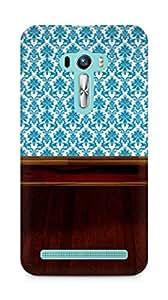 Amez designer printed 3d premium high quality back case cover for Asus Zenfone Selfie (Blue n Brown)