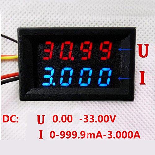 DC 3.5-30V Digital Voltmeter Voltage Test Module Waterproof 3Bit Red 0.56/'/'