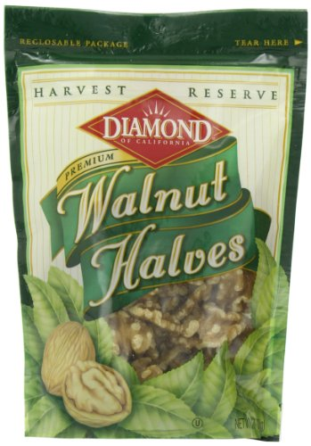 Diamond Nuts Harvest Reserve Walnut Halves, 6-Ounce Bags (Pack of 12) (Oven Toasted Oats compare prices)