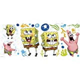 Nickelodeon SpongeBob SquarePants Self Stick Room Appliqué over Twenty Decals