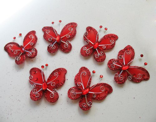 Set of 20 pcs- Organza butterfly craft wedding party decorations 2