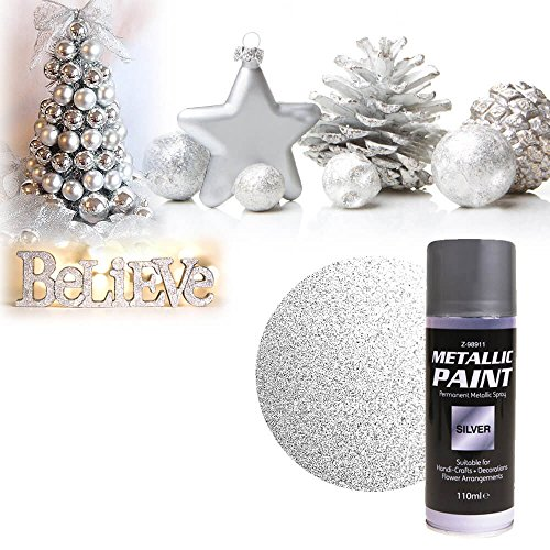 interior-exterior-diy-gold-silver-spray-paint-metallic-finish-110ml-for-christmas-decorative-use-sil