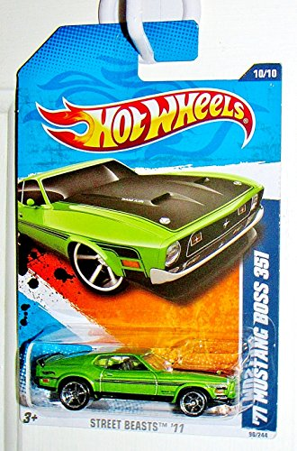 2011 Hot Wheels '71 Mustang Boss 351 Light Green #90/244