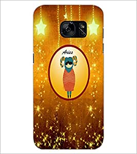 PrintDhaba Zodiac Aries D-3753 Back Case Cover for SAMSUNG GALAXY S7 (Multi-Coloured)