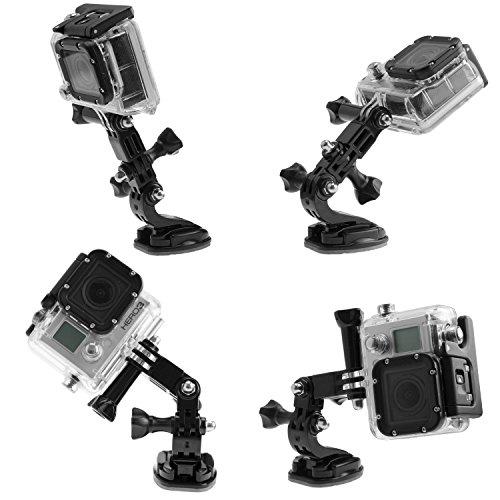 Ganquer Quick Release treppiede Action camera lampada interfaccia adattatore accessori mini base portatile t onvertion lega di alluminio durevole staffa Vlog universale