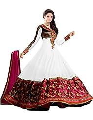 White World Women's Georgette Salwar Suit (Sainx White_White_Freesize