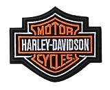 Harley-Davidson Orange Bar & Shield Patch SM 4'' x 3 ½'' EMB302382