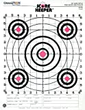 Champion Score Keeper Fluorescent Orange Bull 100-yard Sight-In Rifle Target (Pack of 12)