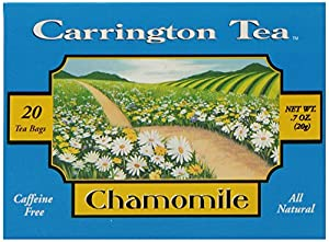 Carrington Tea Chamomile Herbal Tea, 20-Count Tea Bags (Pack of 6)
