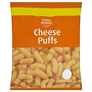 HAPPY SHOPPER CHEESE PUFFS BOX 12 X75G: Amazon.co.uk: Grocery