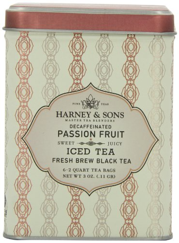 Harney & Sons Passion Fruit Decaf Iced Tea, 6 Brew Pouches