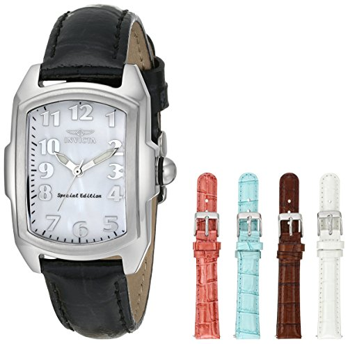 Invicta Invicta Women's 5168 Baby Lupah Collection Mother-of-Pearl Dial Shiny Leather Interchangeable Watch Set