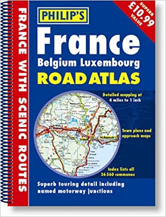 Road Atlas: France, Belgium, Luxembourg