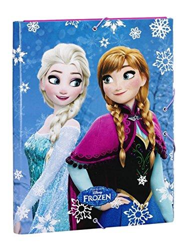 Frozen - Carpeta gomas solapas, color azul (Safta 511615068)