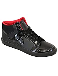 ECKO Mens Stylish Lace Up Hi Top Retro Trainers/Sneakers