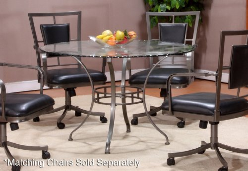 Buy Low Price Hillsdale Furniture Auckland Round Dining Table With Glass Top