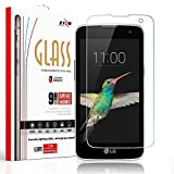 Zizo® Glass Screen Protector For LG K4 | Optimus Zone 3 | LG Spree | LG VS425 [Anti-Scratch] 9H Hardness [0.33 MM Thickness] Tempered Glass Screen Protector