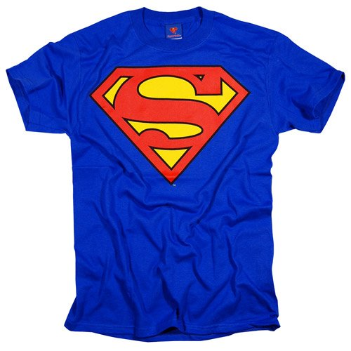 Superman T-Shirt, Officially Licensed Crewneck Athletic Tee, Blue