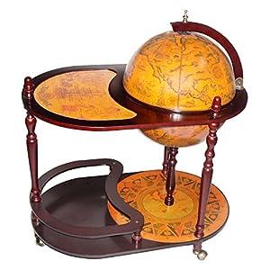 Amazon.com: Arezzo 17.5-in. Diam. Globe Bar Trolley