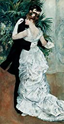 18W x 35H Dance in the City 1883 by Pierre August Renoir - Stretched Canvas w/ BRUSHSTROKES