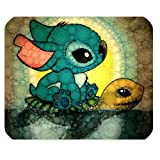 Mystic Zone Personalized Lilo and Stitch Rectangle Mouse Pad (Black)