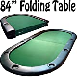 84 inch folding poker table with 10 built in cup holders by Brybelly