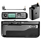 Neewer Meke Built-in 2.4G LCD Display Wireless Control Battery Grip Works with FW50 Battery for SONY A6300 Camera