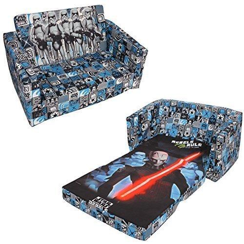 Disney-Star-Wars-Rebel-Kinder-Kids-Flip-Out-Double-Schaumstoff-Sofa-Sofa-Liege-Bett-Sitz