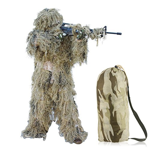 Banyan Desert Camo Hunting Ghillie Suit Camouflage 4 Piece