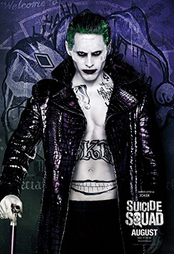 "poster film ""Suicide Squad Joker (2016, David Ayer, Margot Robbie come Harley Quinn, David Harbour, Jared Leto come Joker, Cara Delevingne, Scott Eastwood, Ben Affleck, Will Smith), Carta, A2"