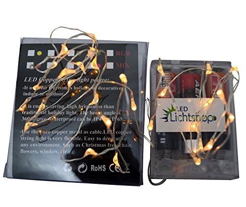 led lichtshop 1 st ck 30er led lichterkette warm wei innen oder aussen micro draht batterie. Black Bedroom Furniture Sets. Home Design Ideas