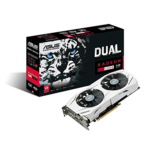 ASUS Dual-Fan Radeon Rx 480 4GB OC Edition AMD Gaming Graphics Card...