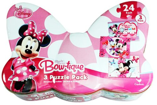 Minnie Mouse 3 Pack Bow-Tique Puzzles - 1