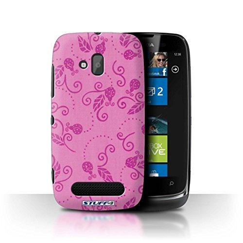 Stuff4 Hülle / Hülle für Nokia Lumia 610 / Rosa Muster / Marienkäfer-Muster Kollektion