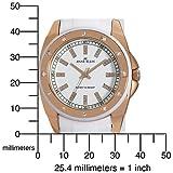 AK Anne Klein Women's 109178RGWT Swarovski Crystal Accented Rosegold-Tone White Bracelet Watch