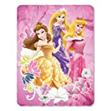 "Disney Princess New 2013 Fleece Blanket for Children (Princess Shining Flowers) 46"" X 60"""