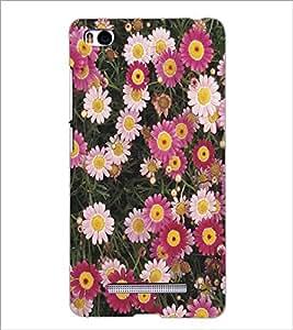 XIAOMI MI4I PINK FLOWERS Designer Back Cover Case By PRINTSWAG