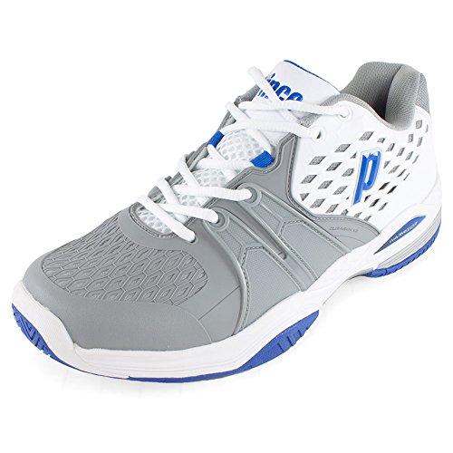 Prince Warrior Men S Tennis Shoe White Grey Blue
